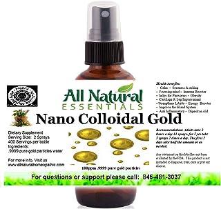 Sponsored Ad - Colloidal Gold Mineral Supplement True Pure Nano Colloidal Liquid Gold Minerals 2oz Bottle 240ppm .999 True...