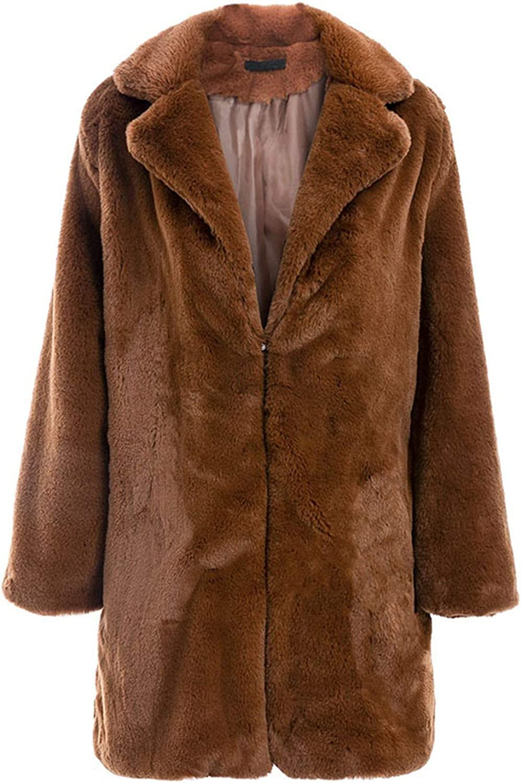 White Island Long Faux Fur Coat Women Winter Warm Soft Pink Fur Coat Female Casual Luxury Plush Coat Outwear