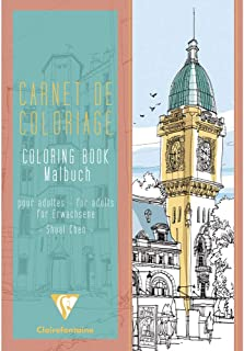 Clairefontaine Colouring Book, A4, 48 pages, 120g - Towns