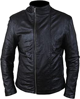 F&H Men's Mission Impossible MI5 Rogue Nation Tom Cruise Genuine Leather Jacket S Black