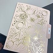 Includes 9 Folders Gibson File Folders Measures 10.45 x 12.4 C.R Printed Interior Sleek /& Chic Reversible