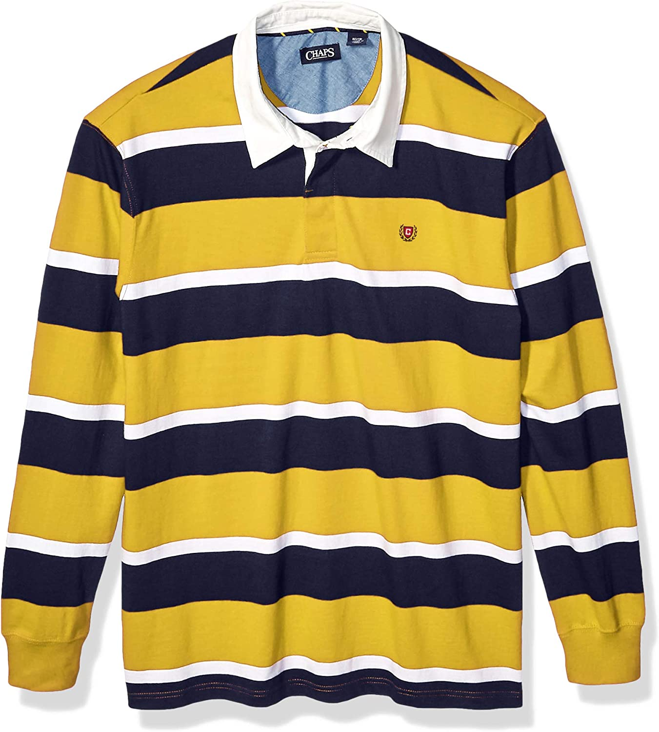 Chaps Men's Big and Tall Heritage Collection Rugby Shirt