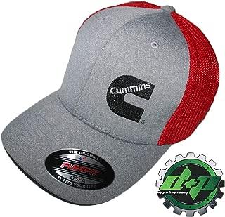 Cummins Flexfit Fitted hat OSFA Gray red mesh Back Dodge Diesel