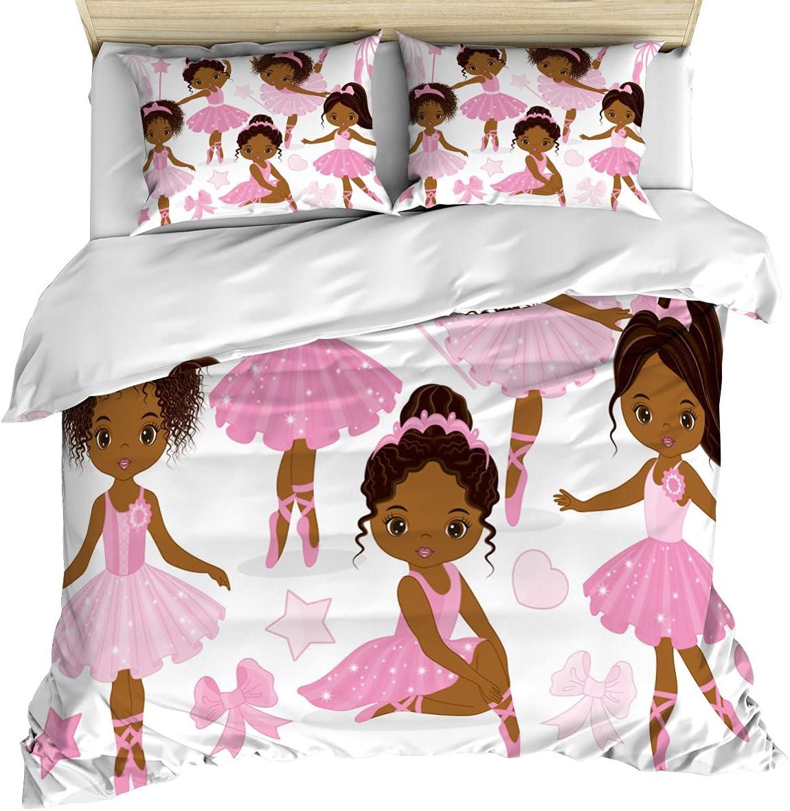 Ballerina Girl Comforter Covers Sets Bow Nippon regular agency Dancer Micr Houston Mall Cute Black