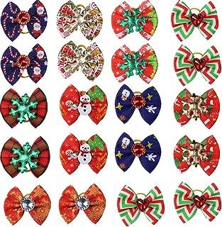dog bows for christmas