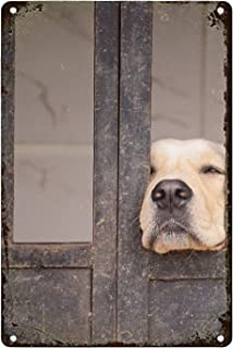 luxteen Dog Labrador Retriever Animals Golden Tin Sign for Art Store Pub Brew Shop Bar Pub Home Decor Art Poster Retro Vintage