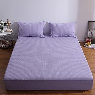 Premium Quality Plain Fitted Sheet, Soft & Cosy Fleece Bed Linen, Bedding, Kingsize Bedsheet,135X200+30CM