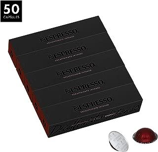 Nespresso VertuoLine Espresso, Decaffeinato Intenso, 50 Capsules
