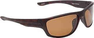 Fisherman Eyewear Striper Sunglasses with Brown Polarized Lens, Tortoise (Large)