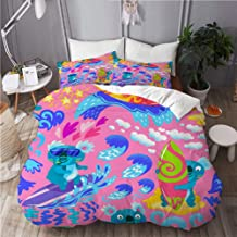 Mokale Duvet Cover Double Size,Cute Koala Surfers Seamless Pattern Perfect,3 Piece Bedding Set with 2 Pillowcases(Doona Co...