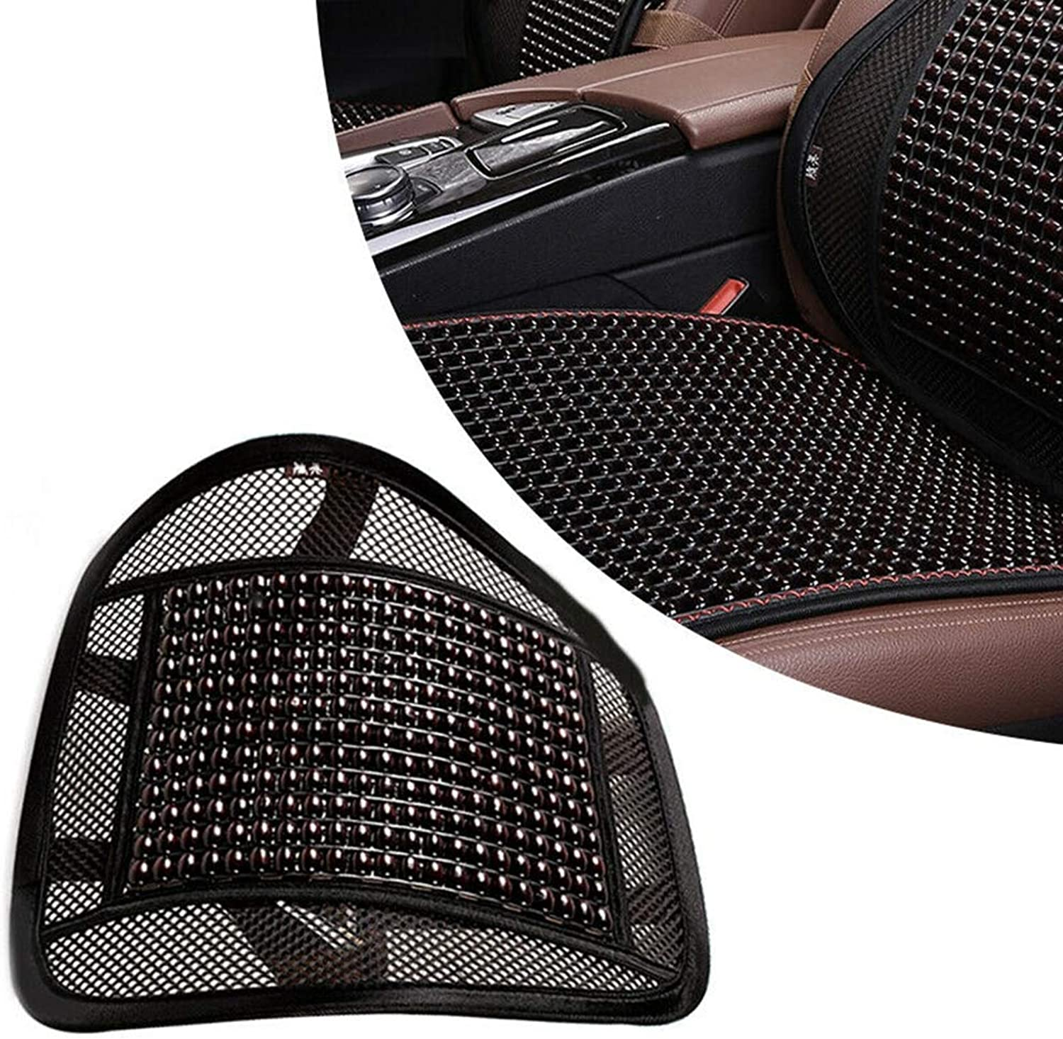 Waist Support, Lumbar Cushion with Massage Beads, Seat Back Support for Office Chair Lumbar Support for Back Pain Relief Car Seat