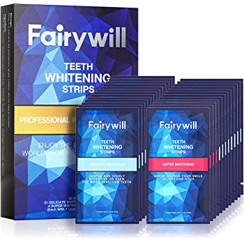 Ace Teeth Whitening Strips Pack of 50 pcs, Fairywill Professional Effect Whitening Strips Dental Safe Formula for Sensitive Teeth, Whitestrips Remove All Manner of Tough Stains in 30 mins