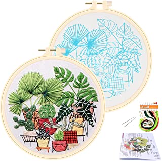 APIPI Cross Stitch Stamped Embroidery Kit- Art Craft Handy Sewing Pack for DIY Beginner..