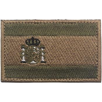 Parche reflectante con diseño de bandera nacional de España con insignia del ejército militar de España: Amazon.es: Hogar