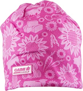 Youth Pink Farm Pattern Beanie - Officially Licensed