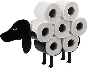 Dog toiletrolhouder   Vrijstaande toiletpapierstandaard   Metalen toiletaccessoire   Leuke badkameraccessoires   M&W