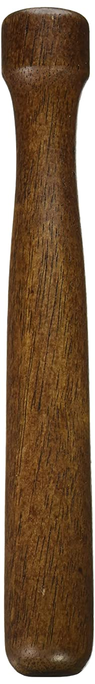 Winco Wooden Muddler, Lacquered Walnut
