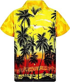 kolila 2020 Funky Hawaiian Shirts for Men Casual Button Down Very Loud Short Sleeve Regular Fit Mens Floral Shirts Unisex