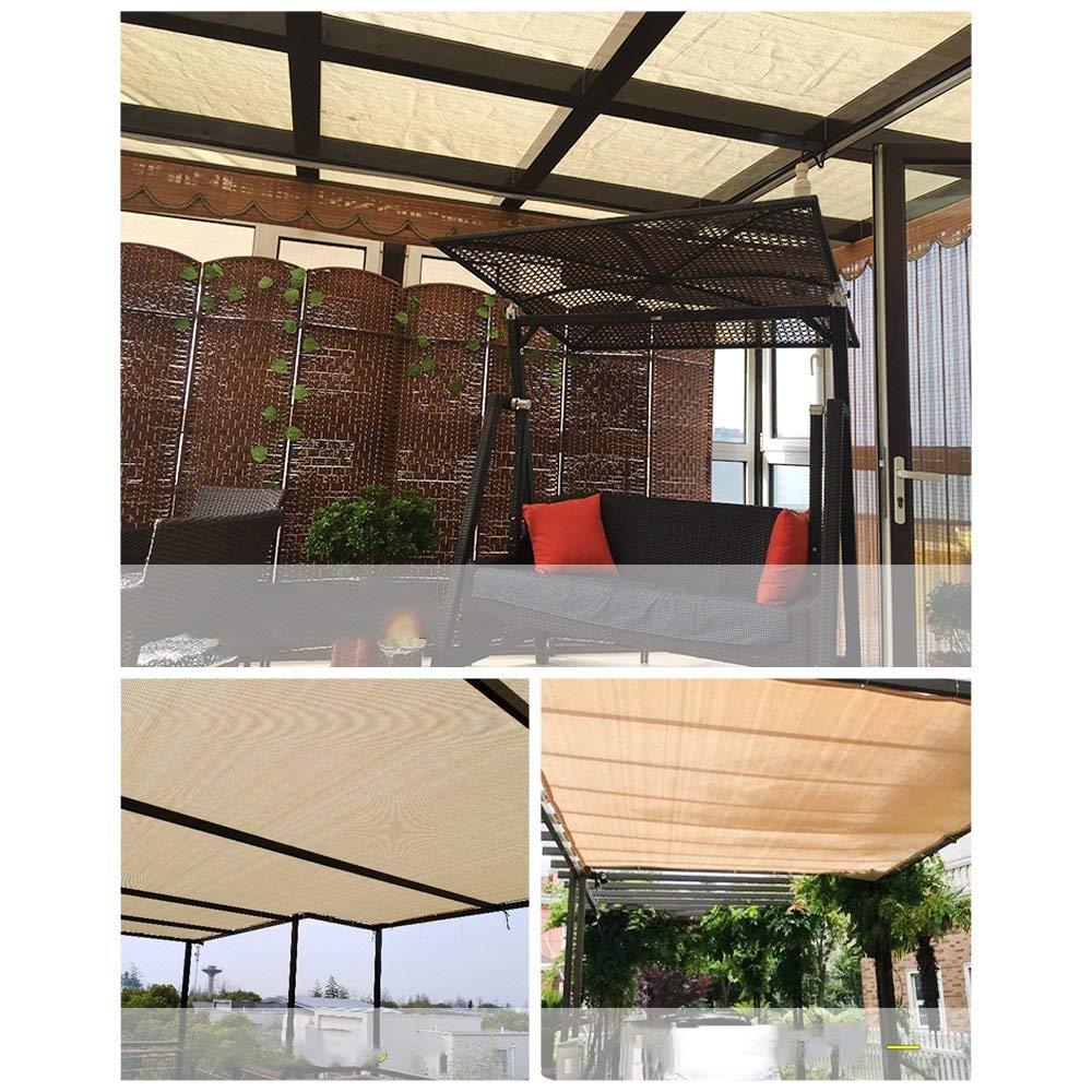 GBX Tela multiusos para exteriores, tela para sombra, tela de sombra, beige, 90%, tela con ojales para pérgola, cubierta con dosel,22M: Amazon.es: Bricolaje y herramientas