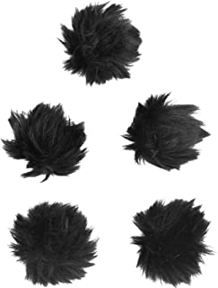 eBoot 5 Pack Furry Outdoor Microphone Windscreen Muff for Most Lavalier Microphones