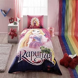 Disney Rapunzel Bedding Duvet Cover Set New Licensed 100% Cotton / Disney Rapunzel Twin Size Duvet Cover Set / Disney Rapunzel Bedding Set 3 PCS