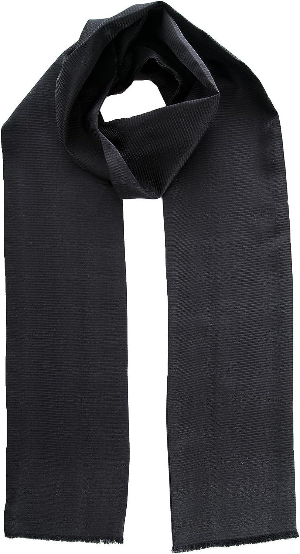 Elizabetta Men's 100% Pure Silk Opera Tuxedo Aviator Scarf - Made in Italy