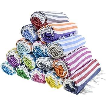 HAVLULAND Sale Set of 6 XXL Turkish Cotton Beach Bath Spa Sauna Hammam Yoga Gym Hamam Towel Fouta Peshtemal Pestemal Blanket