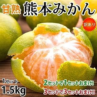 みかん 熊本みかん 訳あり 送料無料 1.5kg 2S~L 2セットで1セットおまけ 3セットで3セットおまけ 熊本県産 極早生みかんお取り寄せ 蜜柑 ミカン