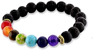Gemstone Healing Chakra Bracelet Anxiety Crystal Natural Stone Men Women Stress Relief Reiki Yoga Diffuser Semi Precious
