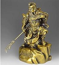 Feng Shui Decor Guan Yun Chang Statue 27China Pure Brass Copper Dragon Wealth Guan Gong Guan Yu Buddha God Sword Statue Gu...