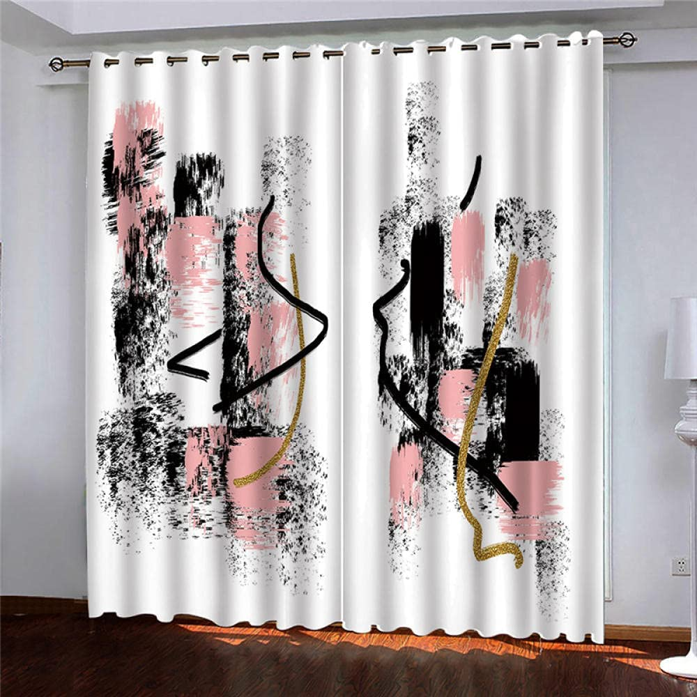 2 Panels New mail order Blackout Cheap sale Curtains Eyelet Thermal Pink Insulated