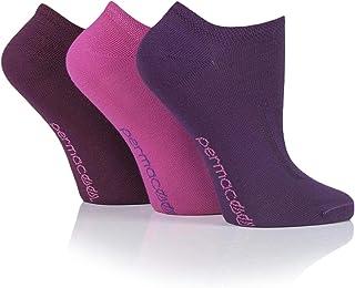 SOCKSHOP PermaCool Mens and Ladies Evaporation Cooling Trainer Socks Pack of 3 Pink/Purple 6-8.5