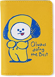 BT21 Official Merchandise by Line Friends - Character Doodling Passport Case, Yellow (Yellow) - 8809648342327