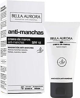 Bella Aurora Crema de Manos Anti-Manchas Spf 15 Anti-Edad Tratamiento Reparador Hidratante Despigmentante Protege y Re...
