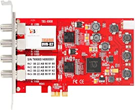 TBS DVB-S2 Professional Quad Tuner PCI Express Digital Satellite TV Card with Unique DVB-S2 Demodulator Chipset for Receive Special Broadcasted, 16APSK,32APSK