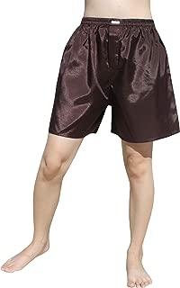 Raan Pah Muang RaanPahMuang Thailand Plain Thai Silk Boxer Shorts Briefs Underwear Loose Boxers