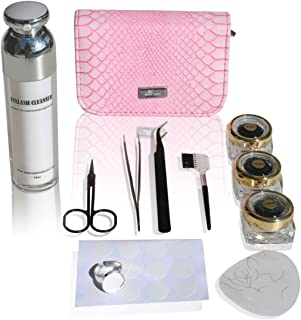 Single Eyelashes Kit With Application Tools and Cleanser/Single Eyelashes- 8mm, 12mm Eyelash Extension Kit