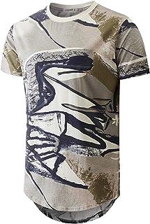 YININF Mens Hipster Hip-Hop Fashion Print T-Shirts