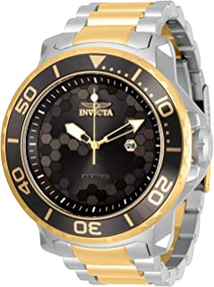 Invicta Men's Pro Diver Quartz Watch with Stainless Steel Strap, Two Tone, 26 (Model: 30563)