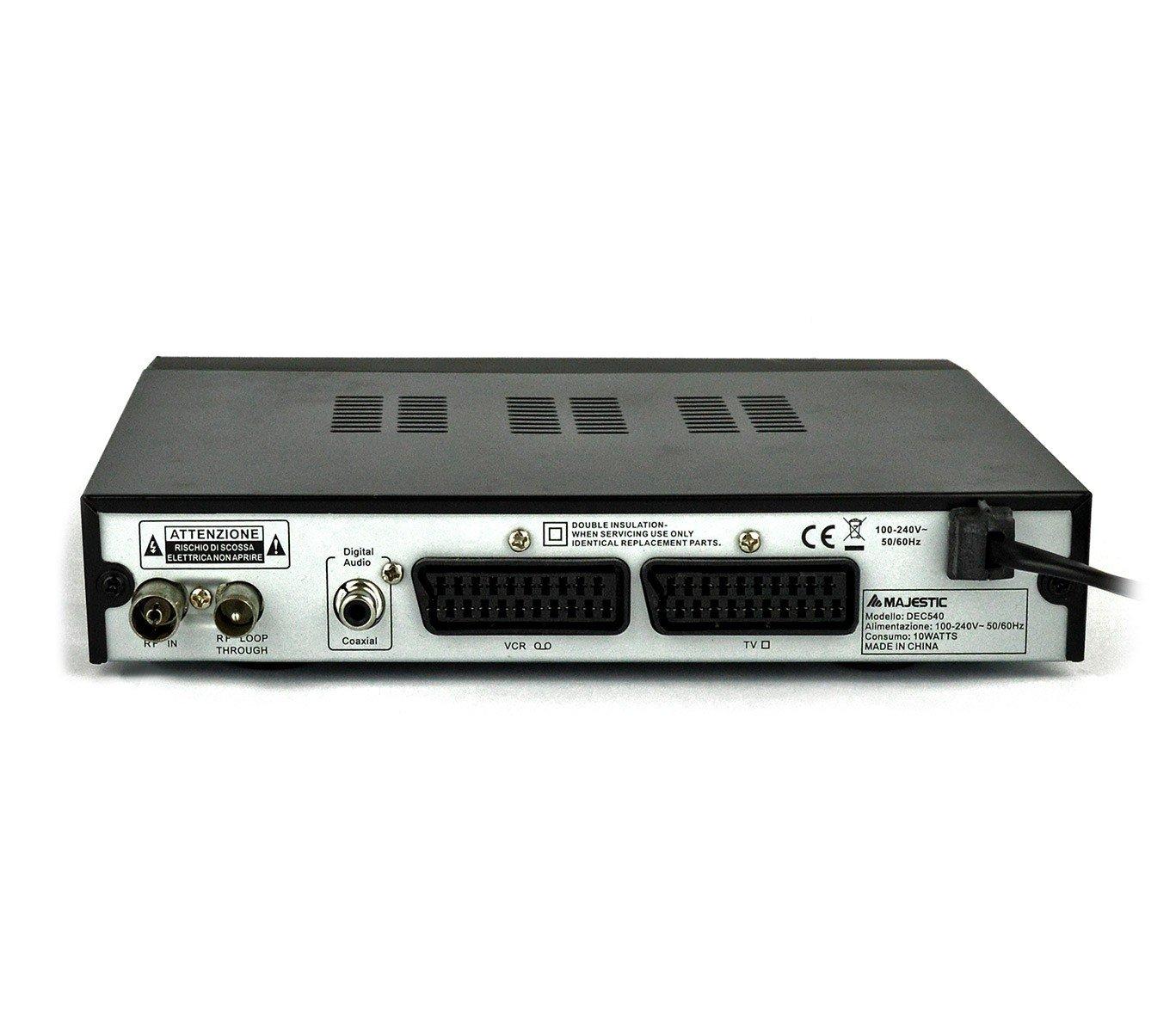 DEC 540 DVB-T TDT para anchos de banda VHF y UHF doble EUROCONECTOR Majestic: Amazon.es: Electrónica
