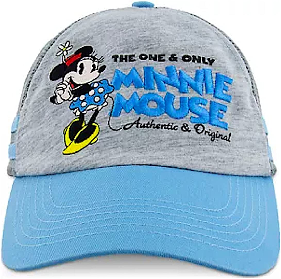 Disney Parks The One and Only Minnie Mouse Baseball Cap Women Blue