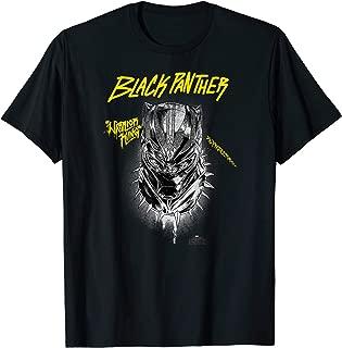 Black Panther Movie King Gold Graffiti T-Shirt