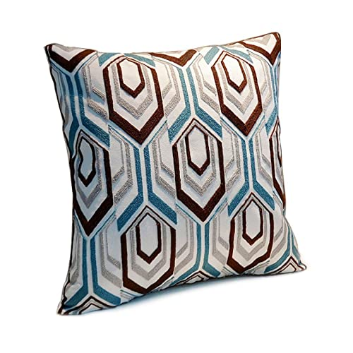 Brown And Blue Throw Pillows Amazoncom