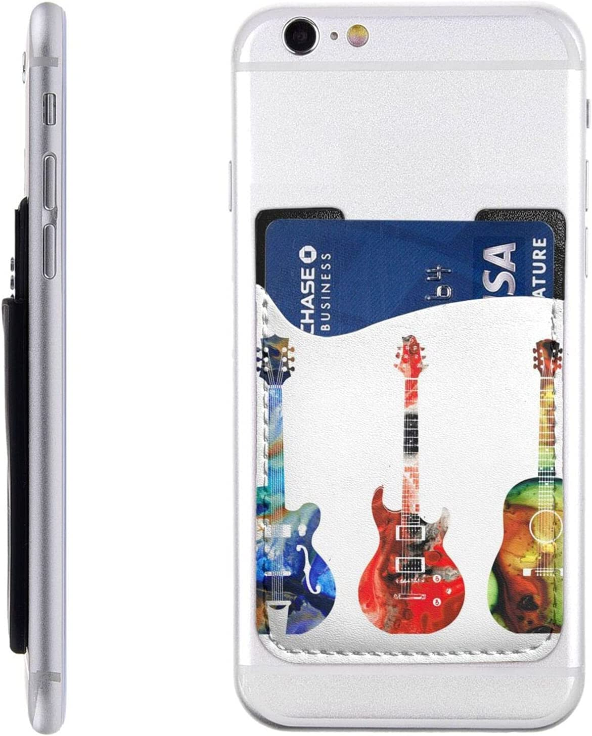 Colorful Guitars Cheap mail order specialty store Phone Card Holder Cell Sales results No. 1 Wall On Stick