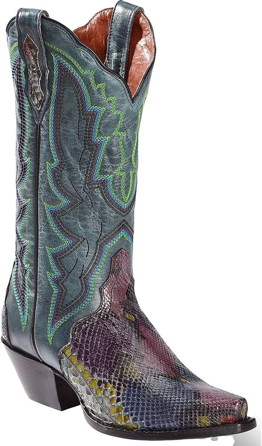 Dan Post All stores are sold Women's Painted Outlet ☆ Free Shipping Belly Python Cowgirl Triad Snip Boot To
