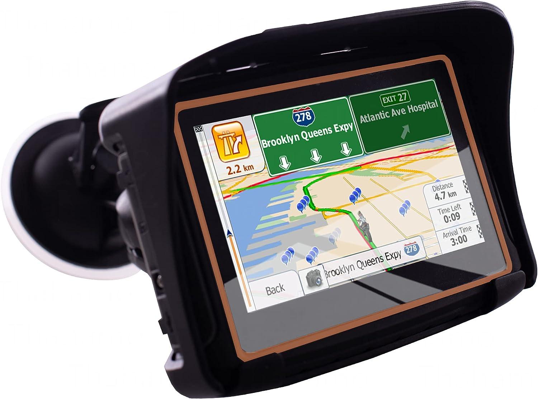 Thahamo 4.3 Inch Motorcycle GPS Navigation System GPS for Motorcycles Motorcycle Satellite Navigation System GPS Motorcycle Vehicle GPS Units & Equipment