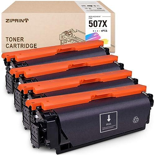 wholesale ZIPRINT Compatible Toner Cartridge Replacement for HP 507 CE400X 507A 507X use lowest for Laserjet Enterprise 500 Color M570dn M551dn M551n popular M551xh M575dn M575f M575c (Black Cyan Yellow Magenta, 4-Pack) outlet online sale