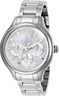 Invicta Women's Angel Quartz Watch with Stainless Steel Strap, Silver, 16 (Model: 28656)