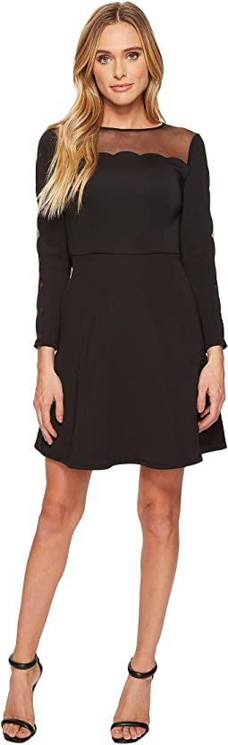 Ted Baker - Kikoh Mesh Paneled Skater Dress
