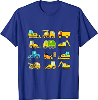 Boys' Trucks and Diggers Short Sleeved T-shirt for Toddlers